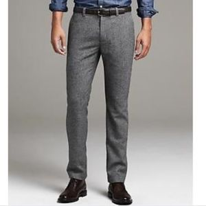 Banana Republic gray wool aiden dress pants Italy